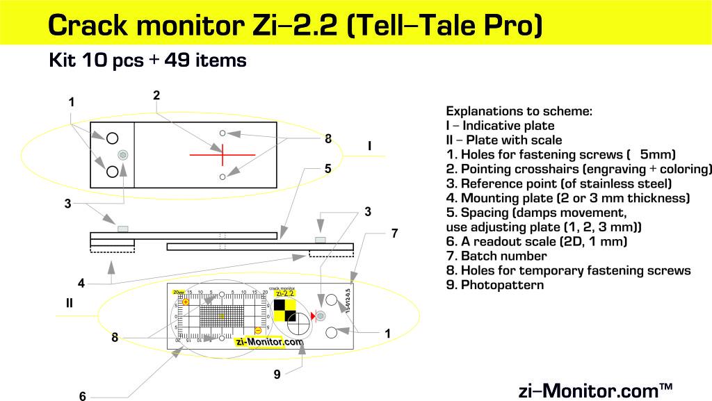 Crack monitor zi-2.2 scheme