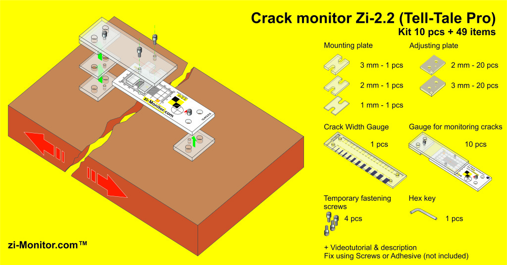 Crack monitor zi-2-2 description