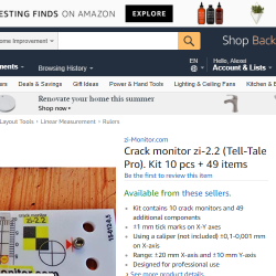 Crack monitor on Amazon