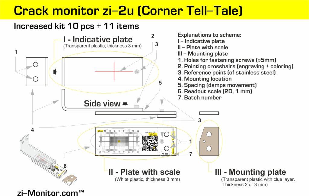 Corner crack monitor zi-2u