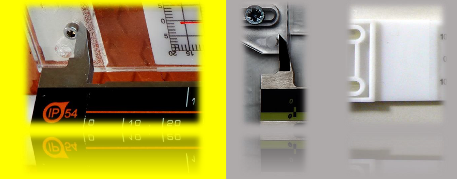 Material points for precision measuring crack monitors
